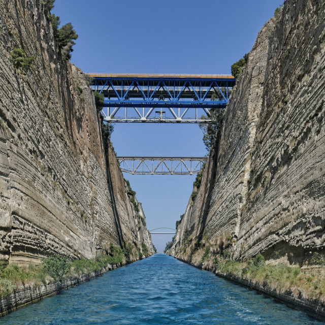 """The Corinth Canal"" stock image"