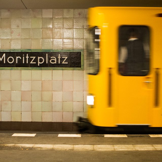 """Berlin subway (U-Bahn)"" stock image"