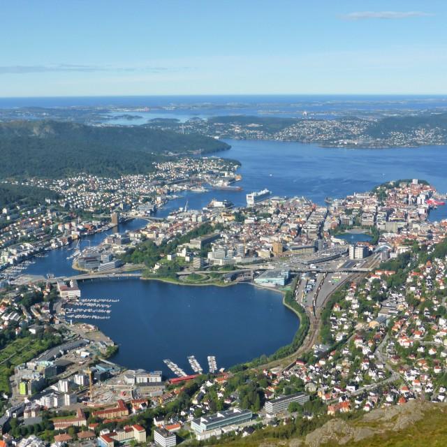 """The City Of Bergen."" stock image"