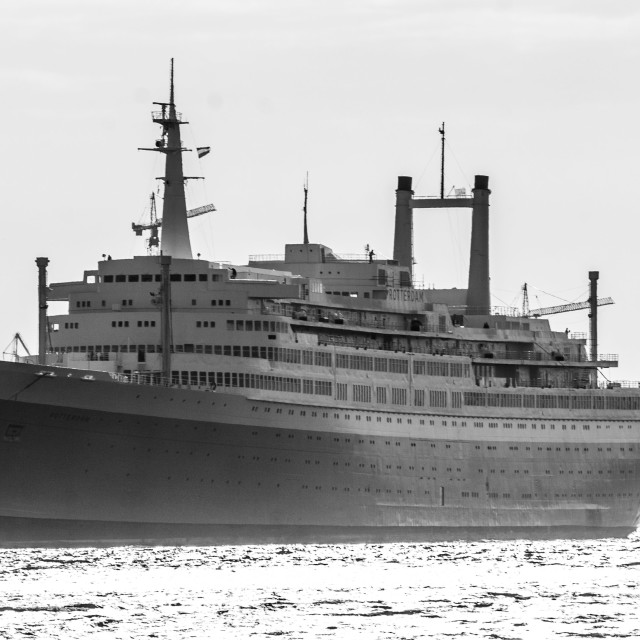 """SS Rotterdam in Black and White"" stock image"