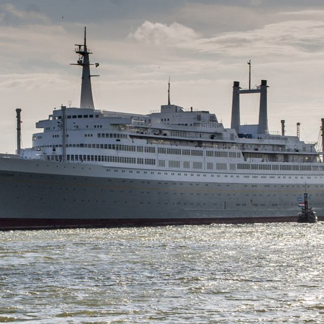 """""""SS Rotterdam in Tow"""" stock image"""