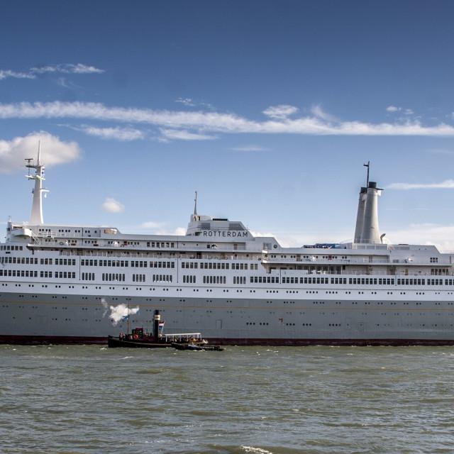 """SS Rotterdam Side View"" stock image"