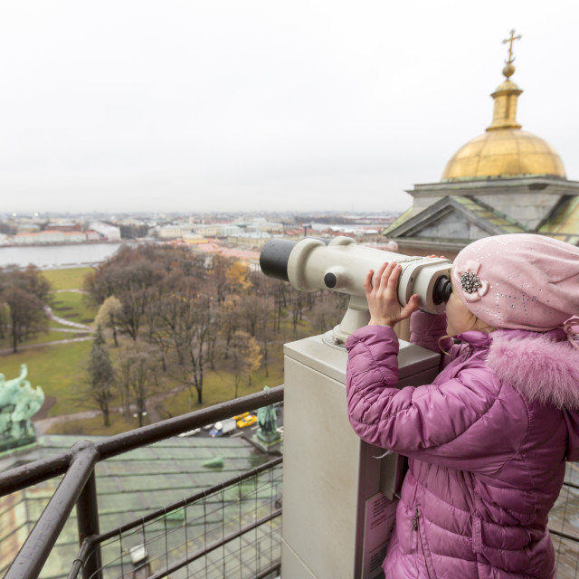 """Saint Isaac's Cathedral girl"" stock image"