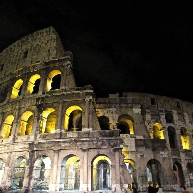 """Colosseum Night"" stock image"