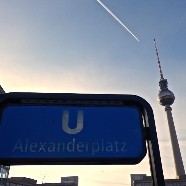 """""""Alexanderplatz U-Bahn"""" stock image"""
