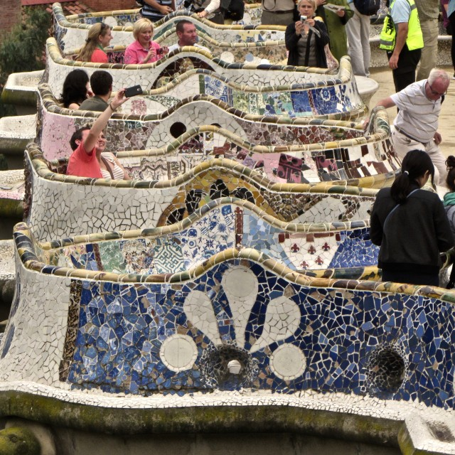 """Parc Guell"" stock image"