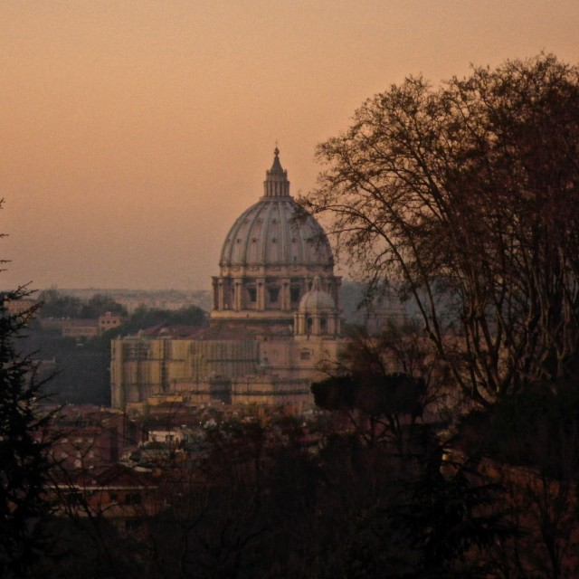 """Vatican Sunset"" stock image"