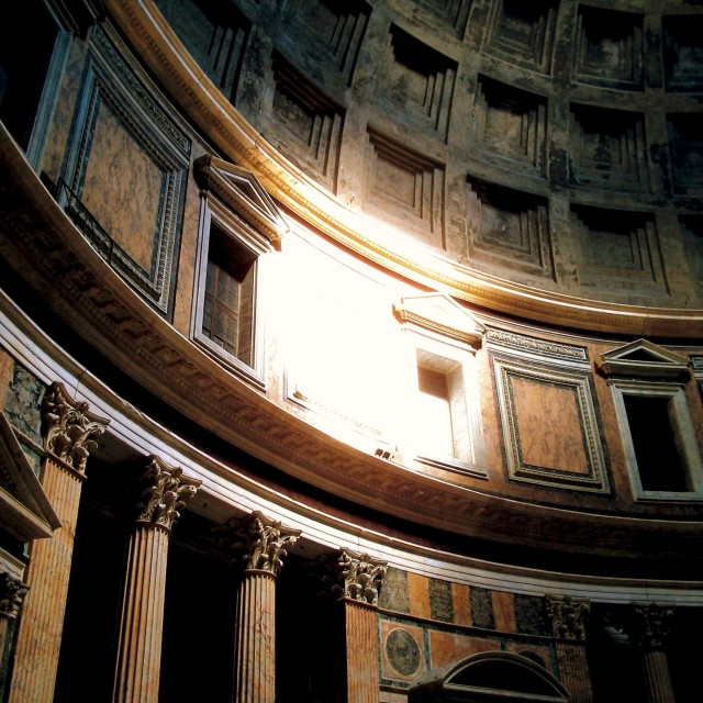 """Pantheon Sunlight"" stock image"