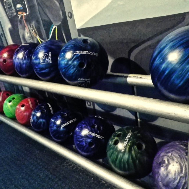 """Bowling Balls"" stock image"