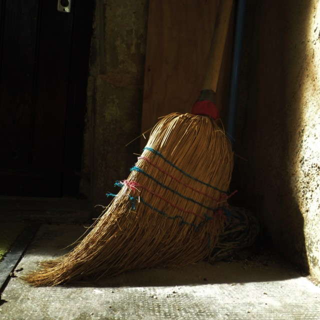 """Lonely Broom"" stock image"