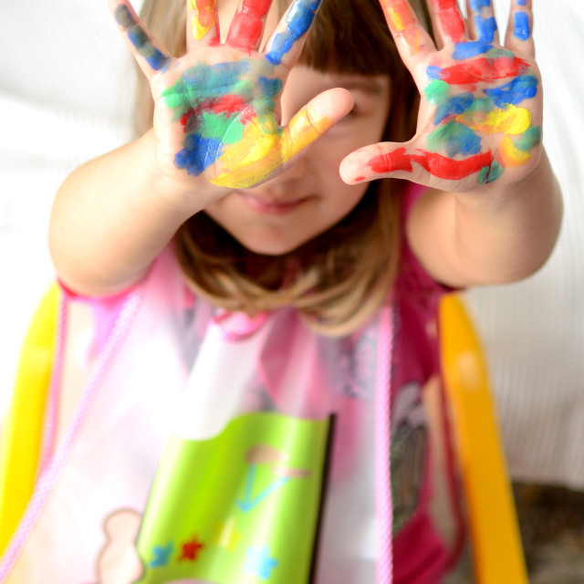 """painted hands"" stock image"