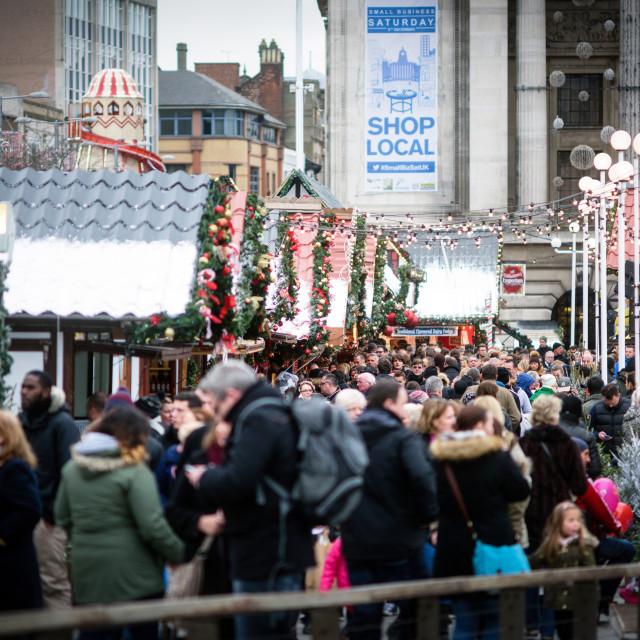 """""""Nottingham Christmas Market"""" stock image"""