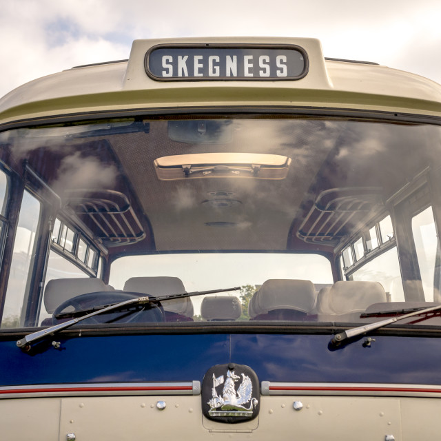 """""""Old Fashioned Bedford Embassy Coach"""" stock image"""