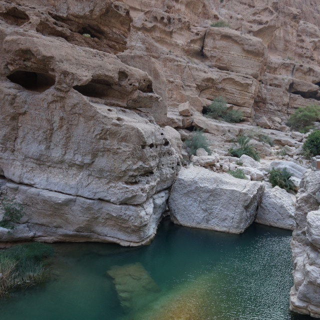 """""""Wadi Shab"""" stock image"""