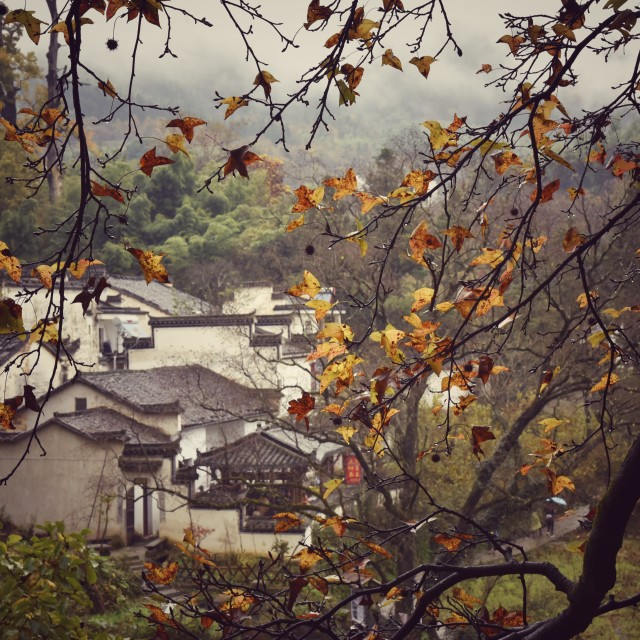 """""""The autumn in old HUI ZHOU 6"""" stock image"""