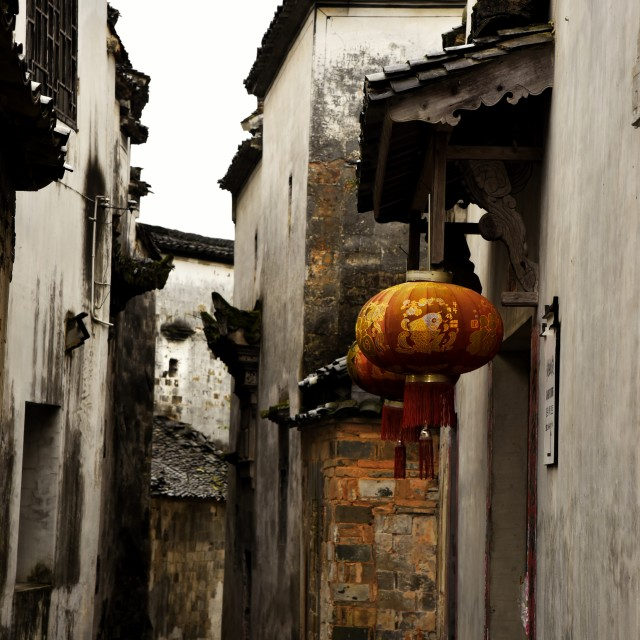 """""""The autumn in old HUI ZHOU 2"""" stock image"""