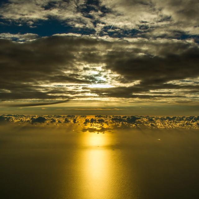 """airborne sunrise"" stock image"