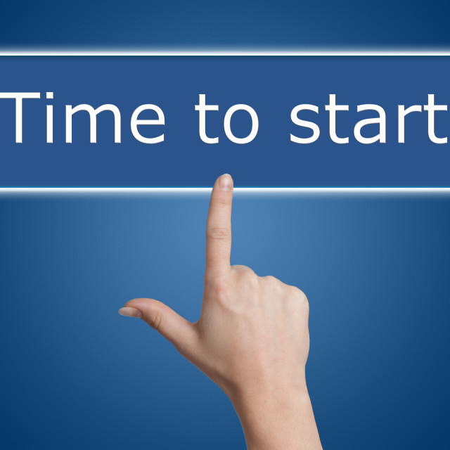 """""""pressing time to start button"""" stock image"""