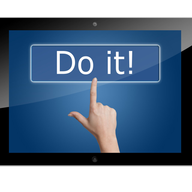 """""""Tablet do it"""" stock image"""