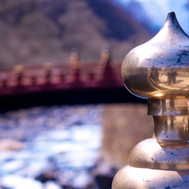 """""""Bridge in Nikko"""" stock image"""