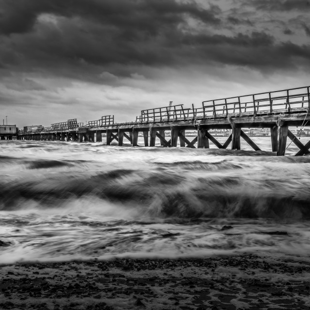 """Stormy Day At Shotley"" stock image"