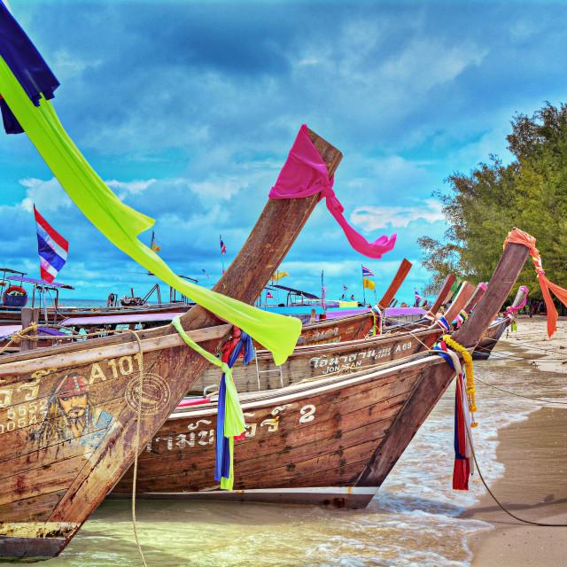 """Beach boats"" stock image"