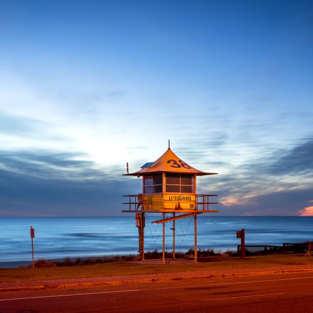 """""""Lifeguard Tower Narrowneck Beach"""" stock image"""
