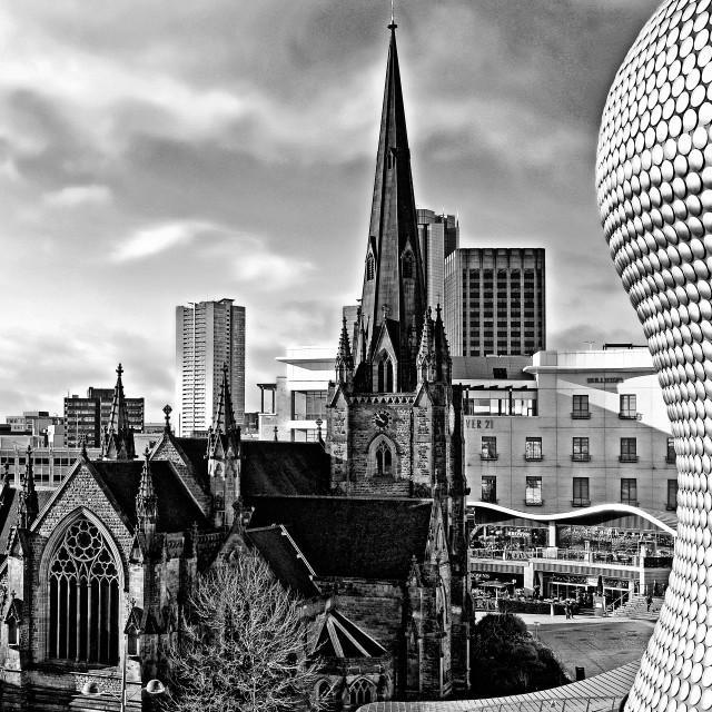 """St Martins Birmingham"" stock image"