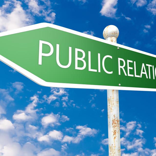 """""""Public Relation"""" stock image"""