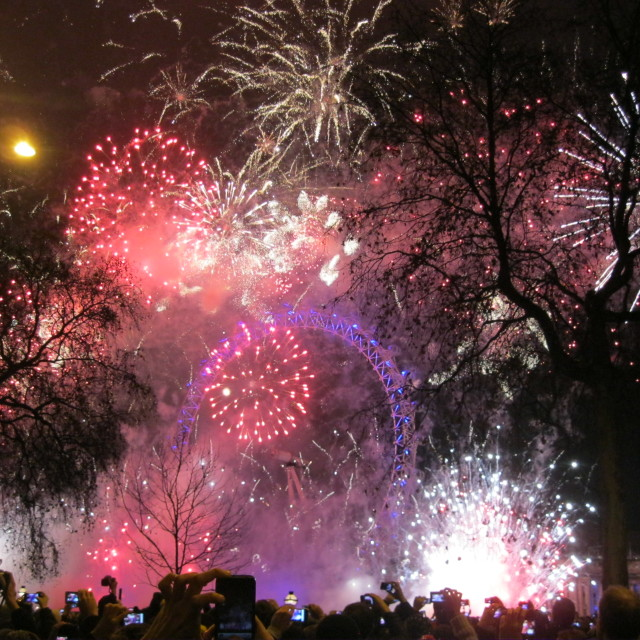 """New Year London Fireworks"" stock image"