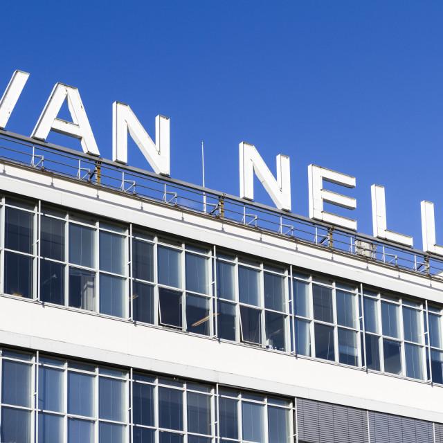 """Van Nelle letters"" stock image"