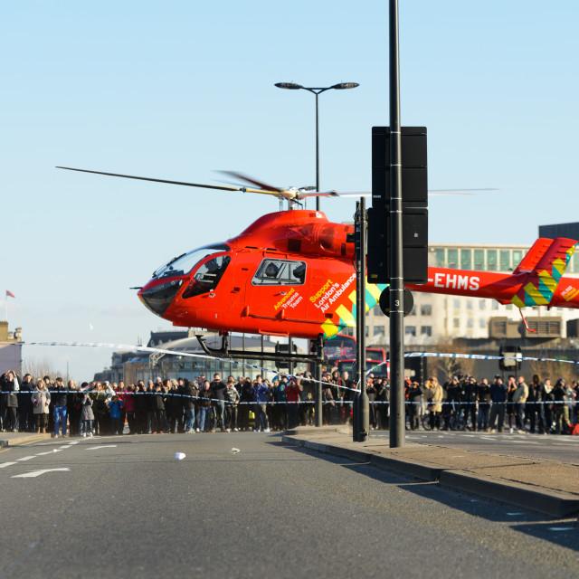 """London Air Ambulance"" stock image"