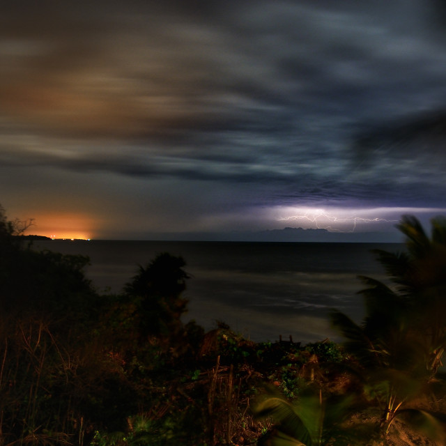 """Lightning on the horizon"" stock image"