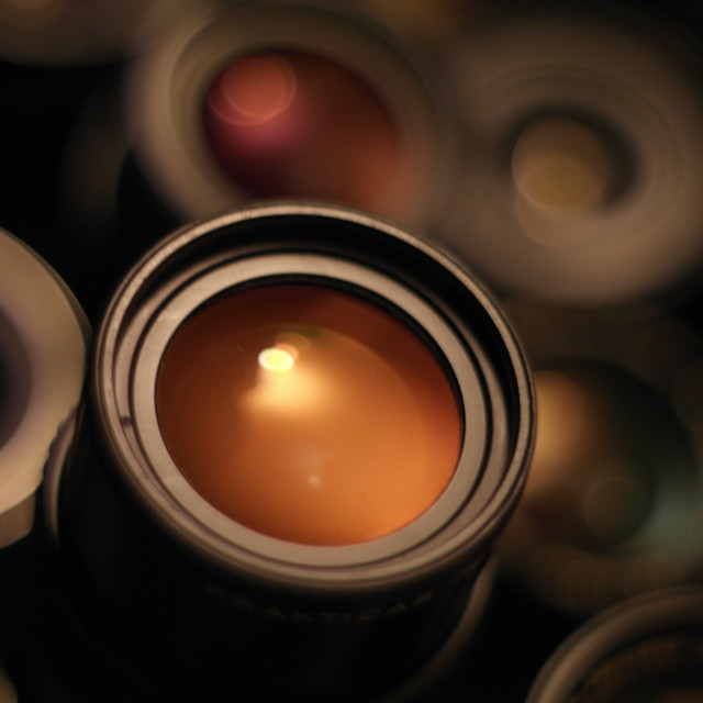 """Vintage Optics cool glow!"" stock image"