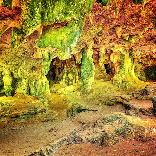 """Colourful caves"" stock image"