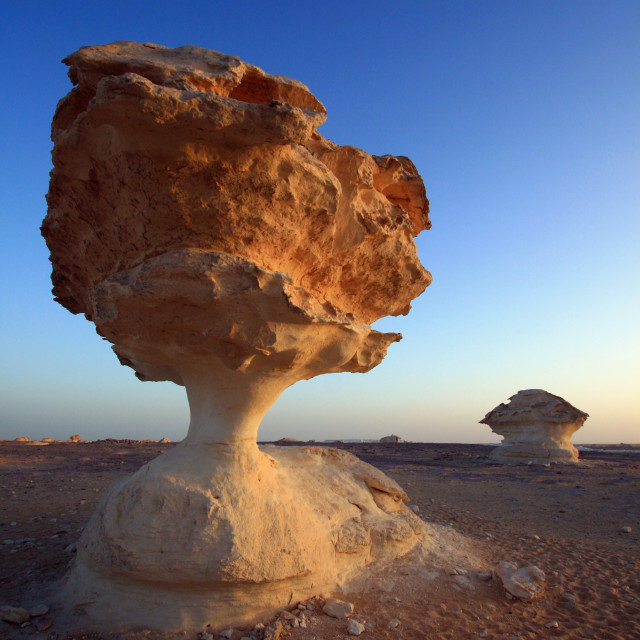 """Rock formations of the White Desert"" stock image"