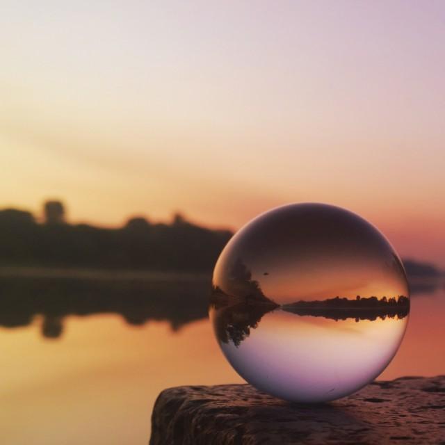 """through my crystal ball"" stock image"