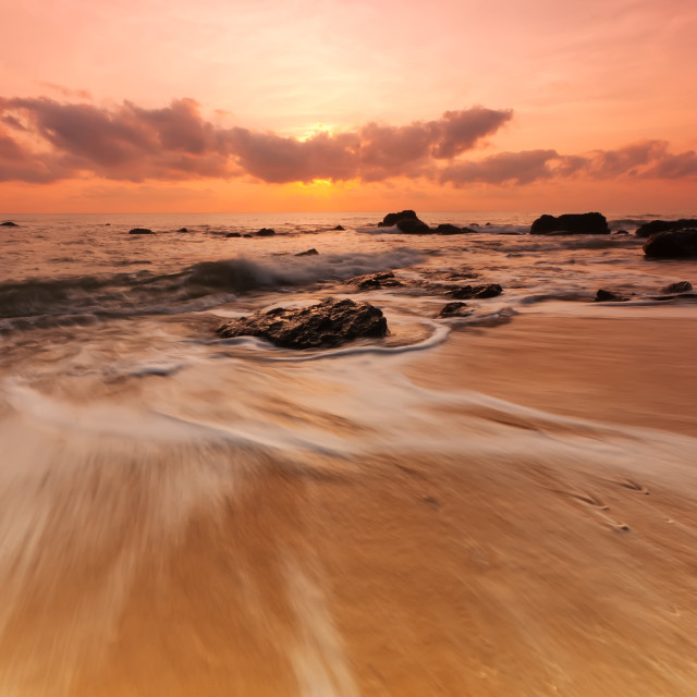 """sea sunrise"" stock image"