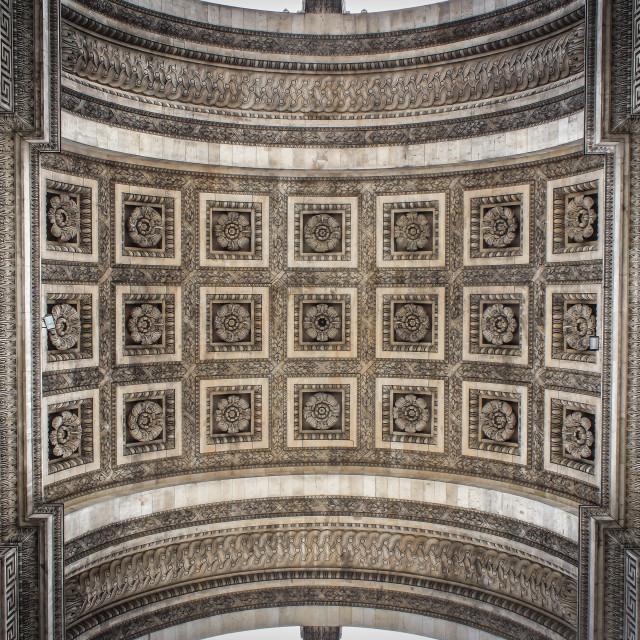 """Under the Arc de Triomphe"" stock image"