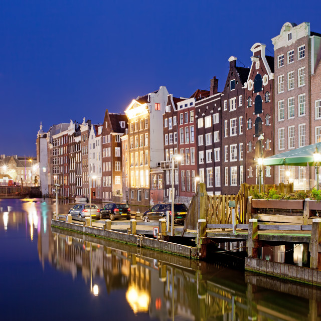 """City of Amsterdam at Night"" stock image"