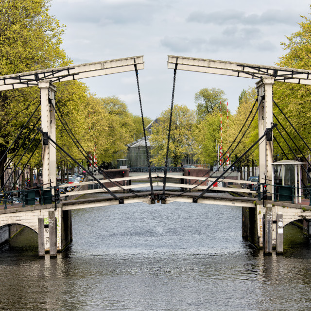 """Drawbridge in Amsterdam"" stock image"