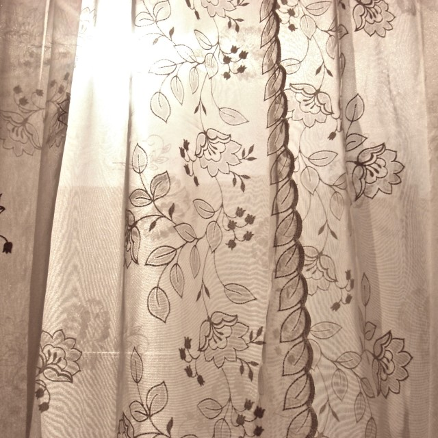 """Sunlight Curtains"" stock image"