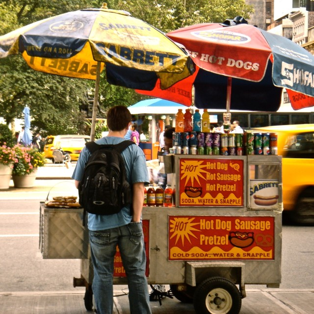 """Hot Dog Vendor"" stock image"