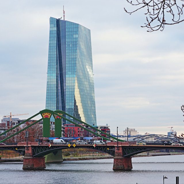 """""""ECB in Frankfurt"""" stock image"""