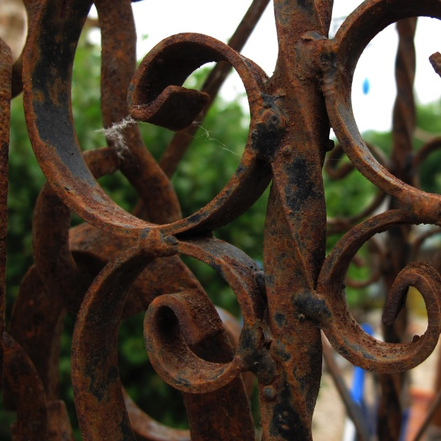 """Rusty Gate"" stock image"
