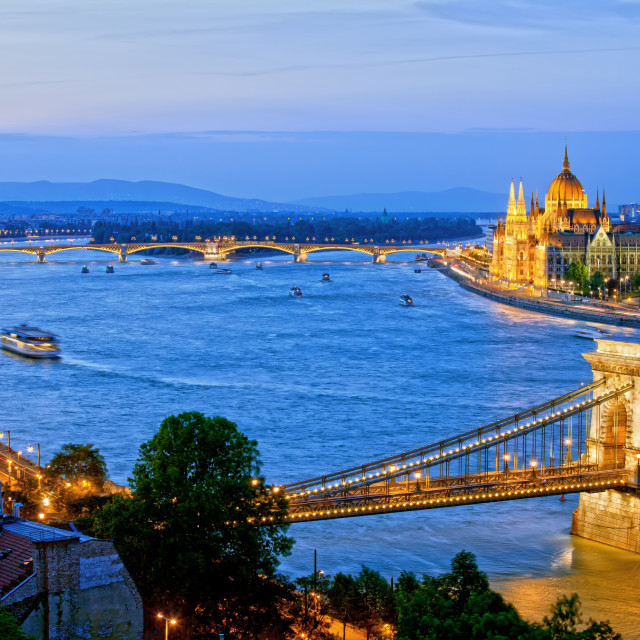 """Evening in Budapest"" stock image"