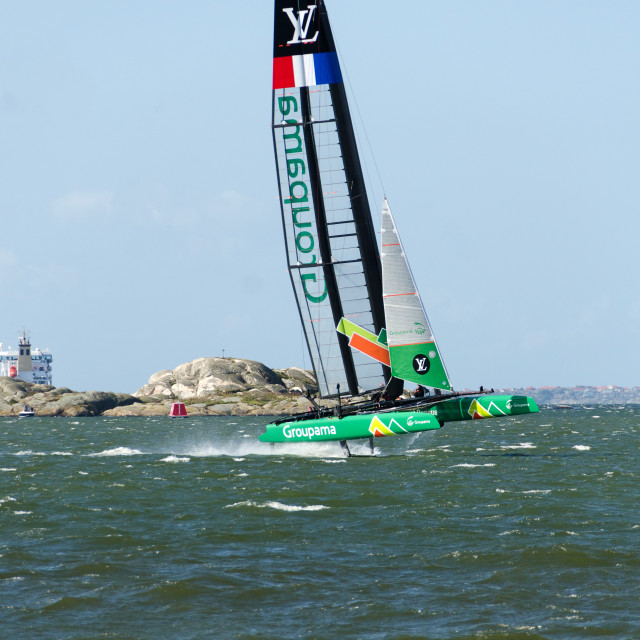 """americas cup in sweden one catamaran"" stock image"