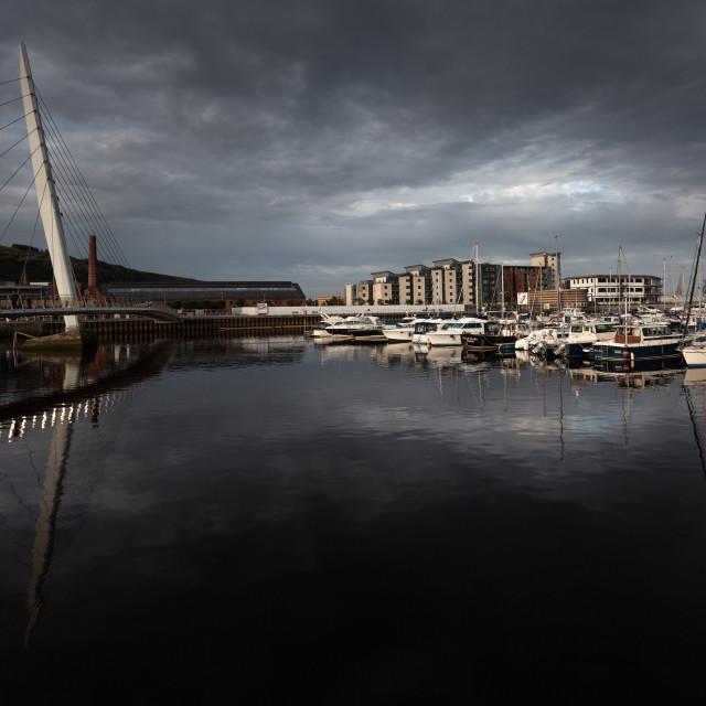 """Swansea marina SA1"" stock image"