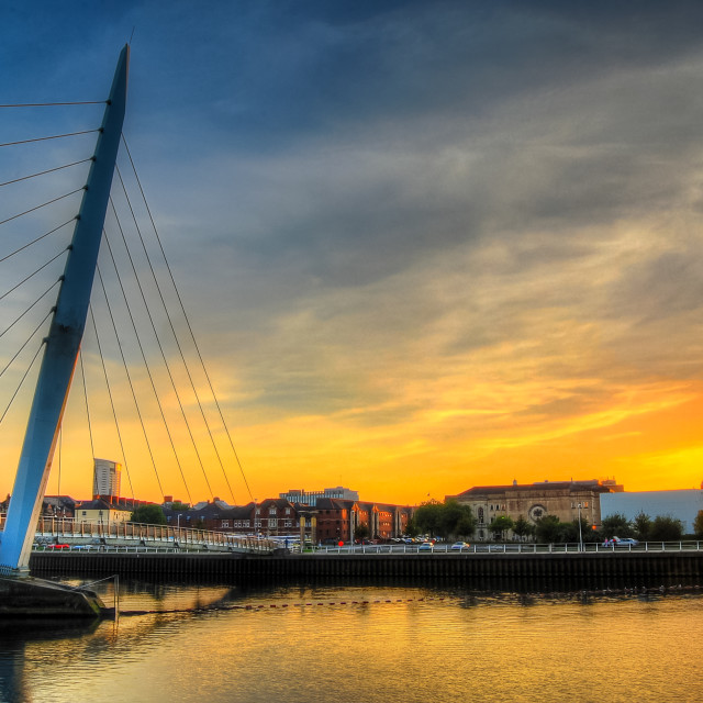 """Swansea Millennium bridge"" stock image"