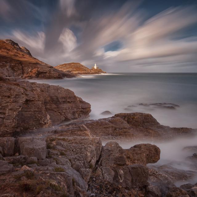 """""""Mumbles lighthouse"""" stock image"""